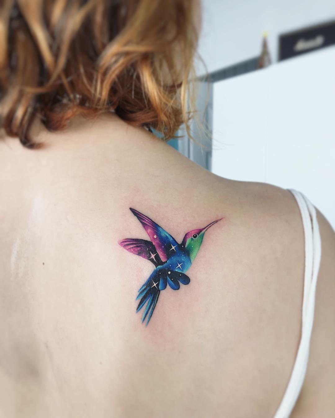 Colibri Por Adrian Bascur En 2020 Tatuajes De Picaflor Tatuajes