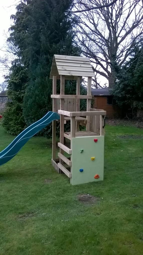 Wooden climbing frame made to order which includes ...
