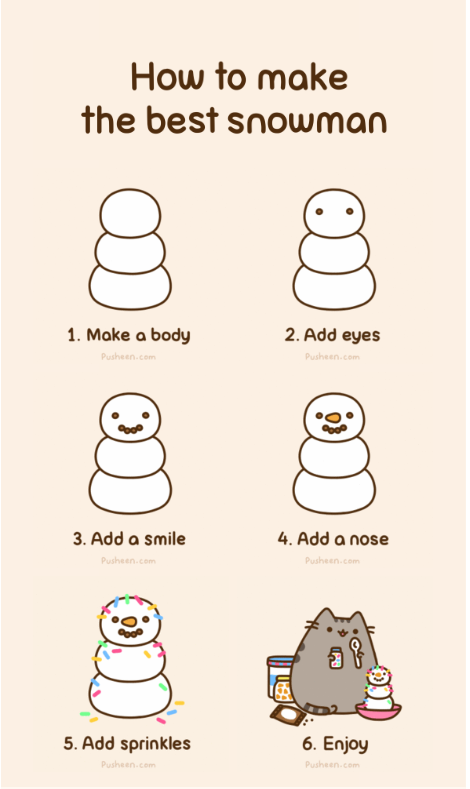 Pusheen: How To Make A Snowman