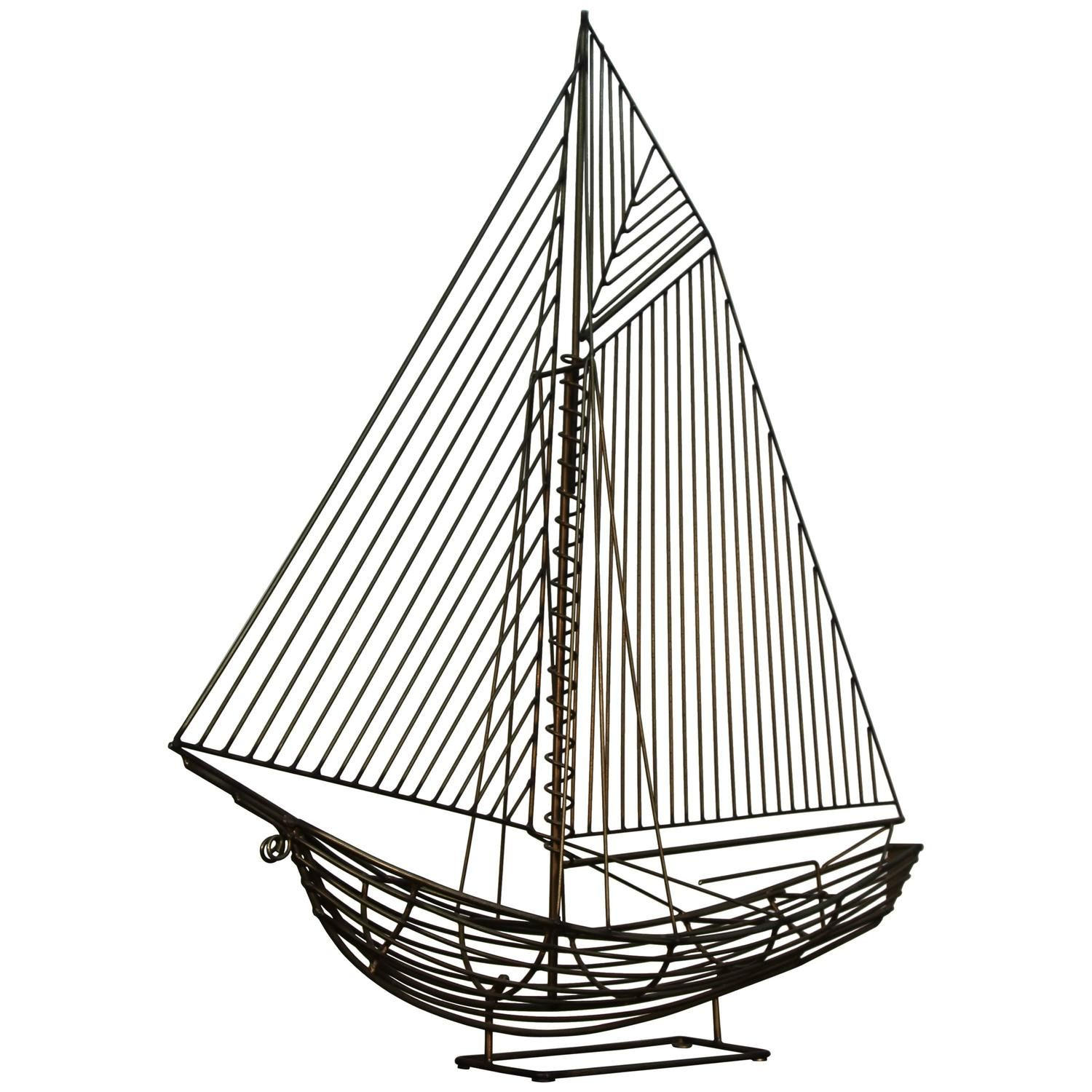 Jere Wire Boat Sculpture