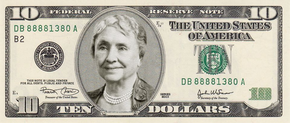 A Proposed New Ten Dollar Bill The Us Treasury Is Looking For A Woman To Be The Face Of A New Ten Dollar Bill Th 100 Dollar Bill Dollar Bill Bills Printable
