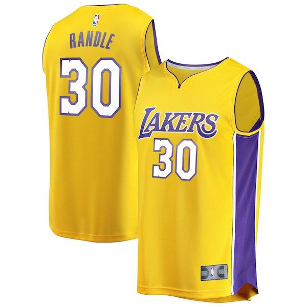 bef874b3071 Julius Randle Los Angeles Lakers Fanatics Branded Youth Fast Break Replica  Jersey Gold - Icon Edition
