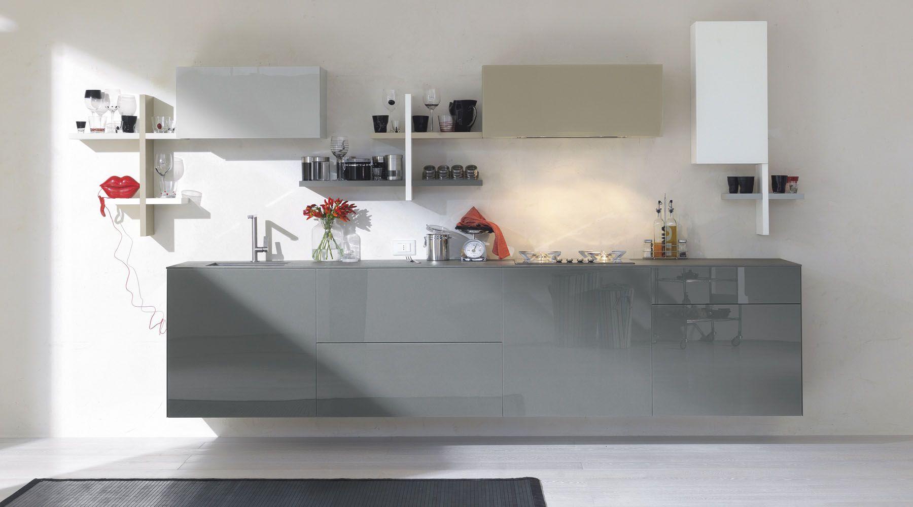 Cucina 36e8 design cucine kitchen kitchen design italian furniture - Cucine sospese da terra ...