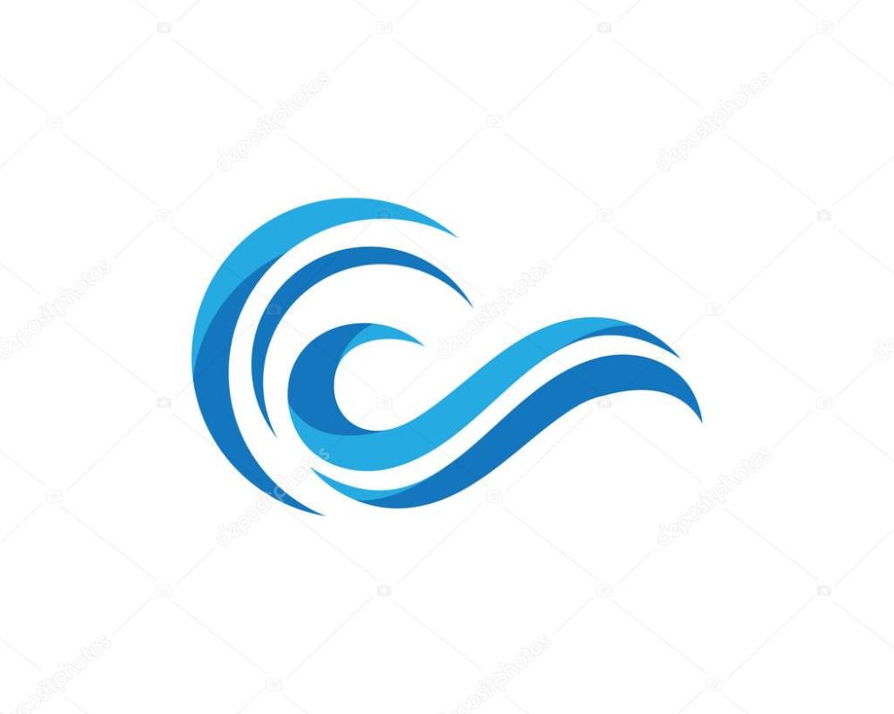 Ocean Wave Water Beach Logo And Symbols Beach Logo Waves Logo Ocean Waves