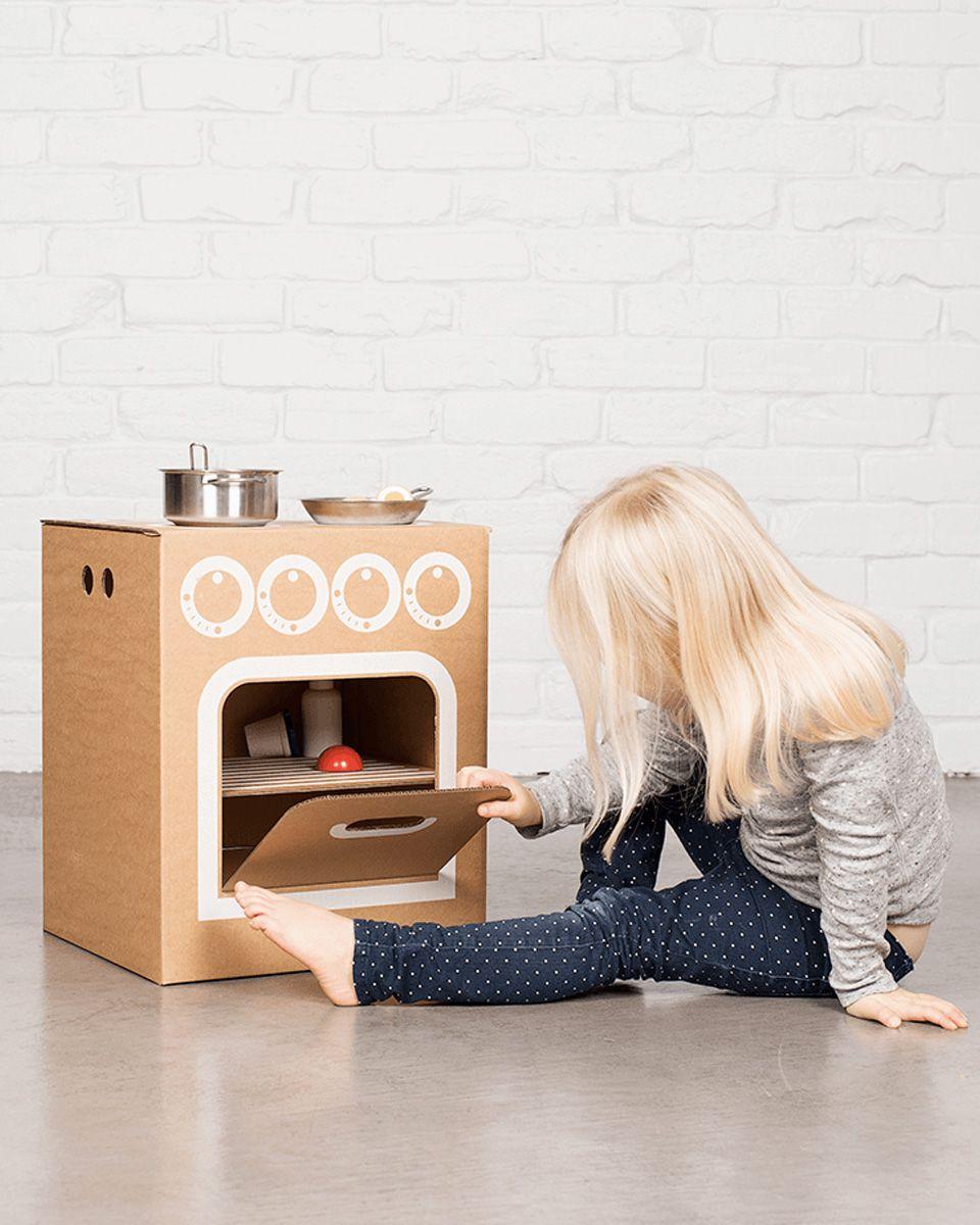 Une Cuisine Diy Pour Les Enfants Cuisine En Carton Diy Et