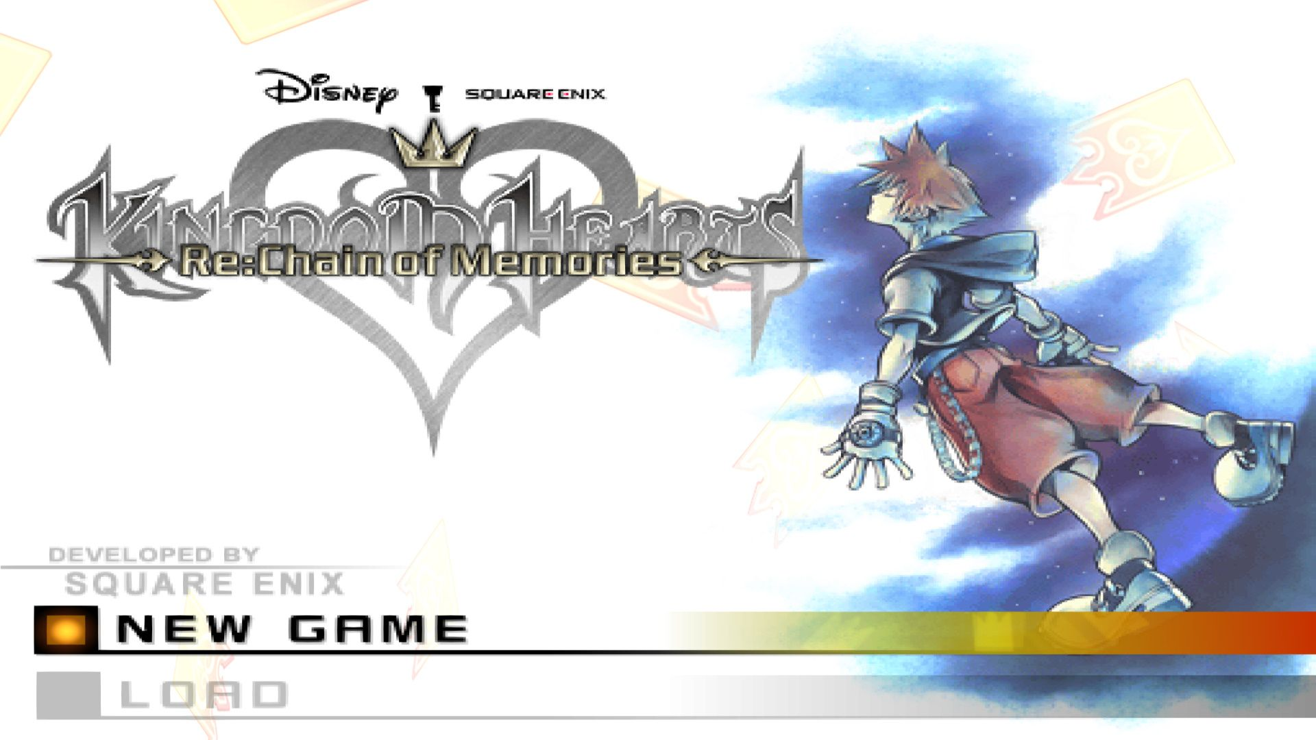 Start Screen Kingdom Hearts Re Chain Of Memories Kingdom