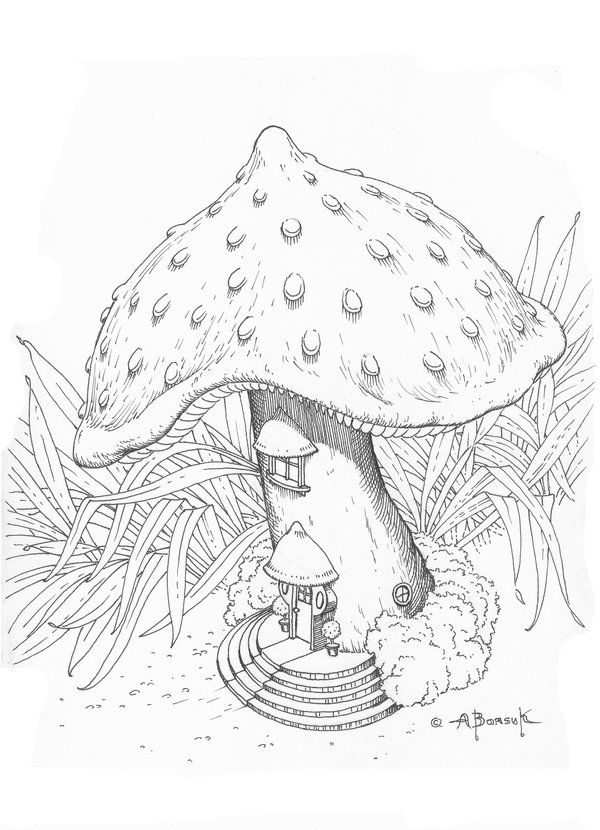 The Mushroom House By CitizenOlek DeviantART