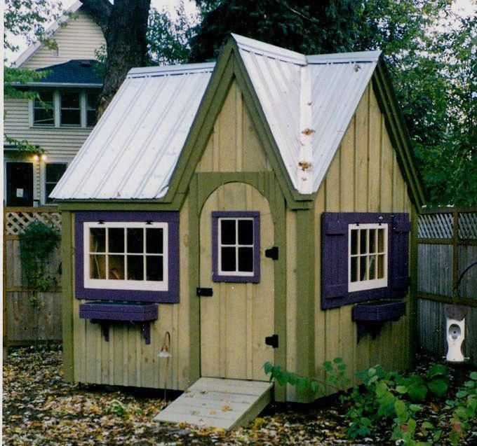 Dollhouse Garden Shed DIY Plans, 8x8 Cottage Playhouse, Storage Shed
