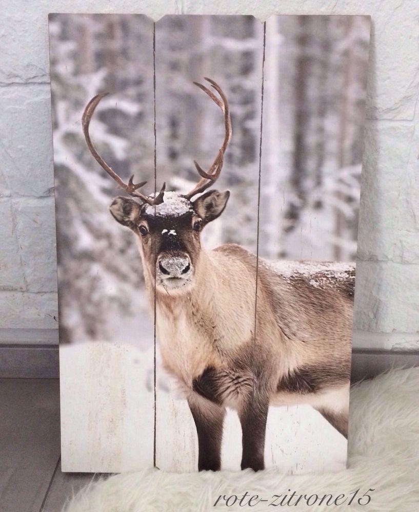 details zu wand paneel mdf bild motiv hirsch holz flur garderobe weihnachten geschenk neu. Black Bedroom Furniture Sets. Home Design Ideas