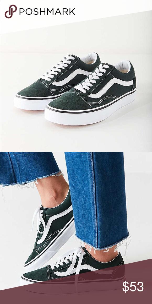 80c6525b24a5 VANS • Classic Old Skool Sneaker (Dark Green) Brand new in box. Color is Dark  Green. Unisex – 5 in Women s and 3.5 in Men s. Price is firm.  ) Vans Shoes  ...