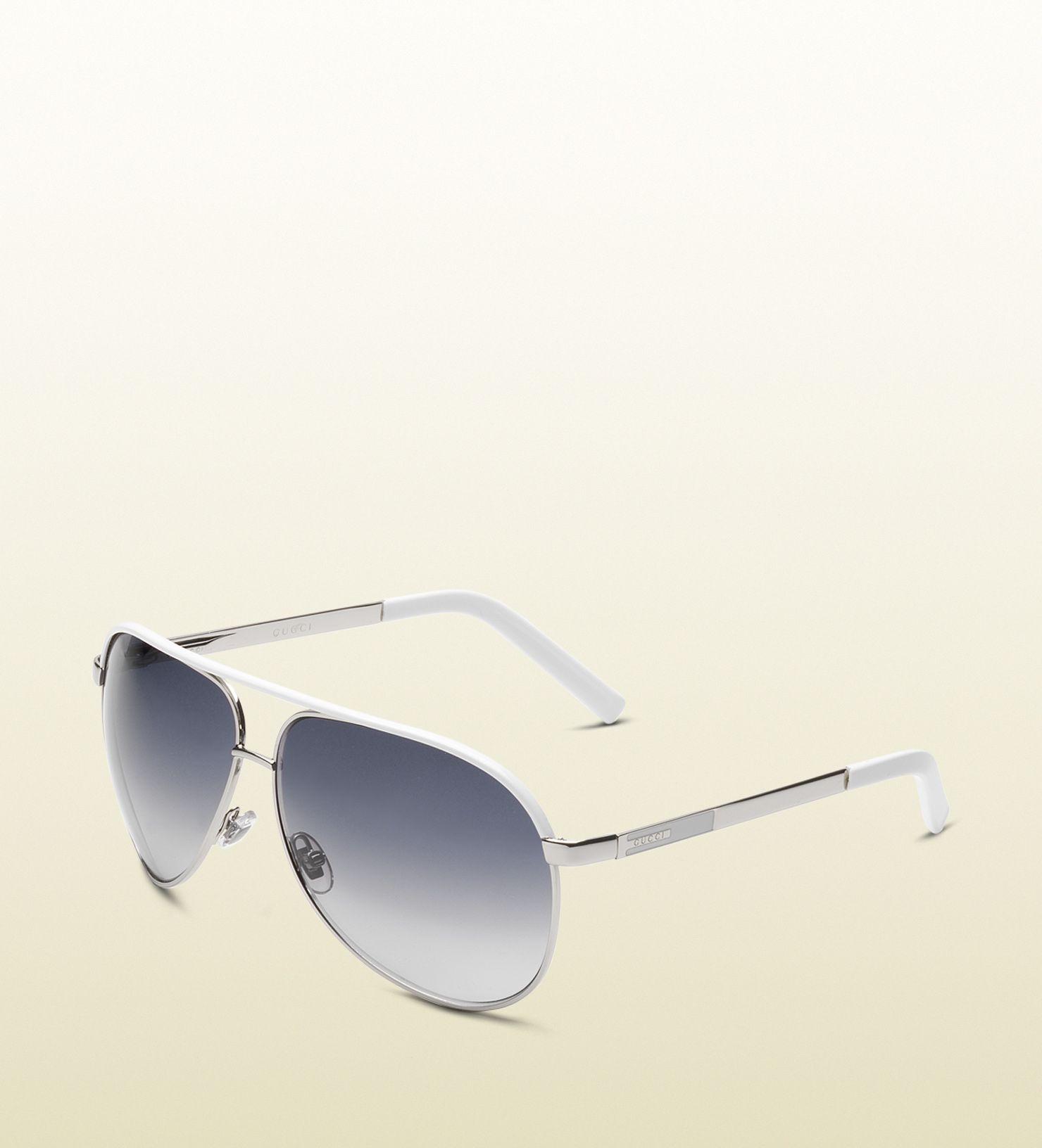 6d13ce08b5f medium aviator sunglasses with gucci logo on temple.