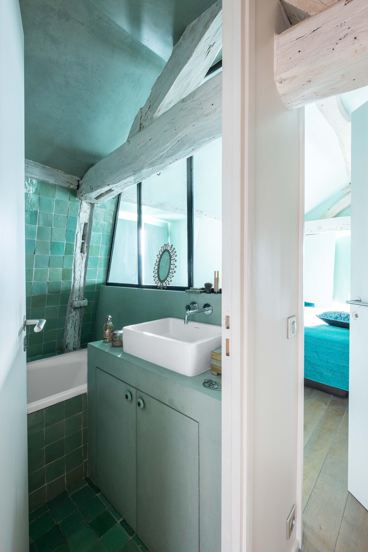 Salle de bain Chambre  coucher Appartement parisien de 60m2 GCG