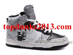 new product 85536 ec7a8 Outstanding 2Pac Pattern Custom Black Grey High Top Nike Dunk