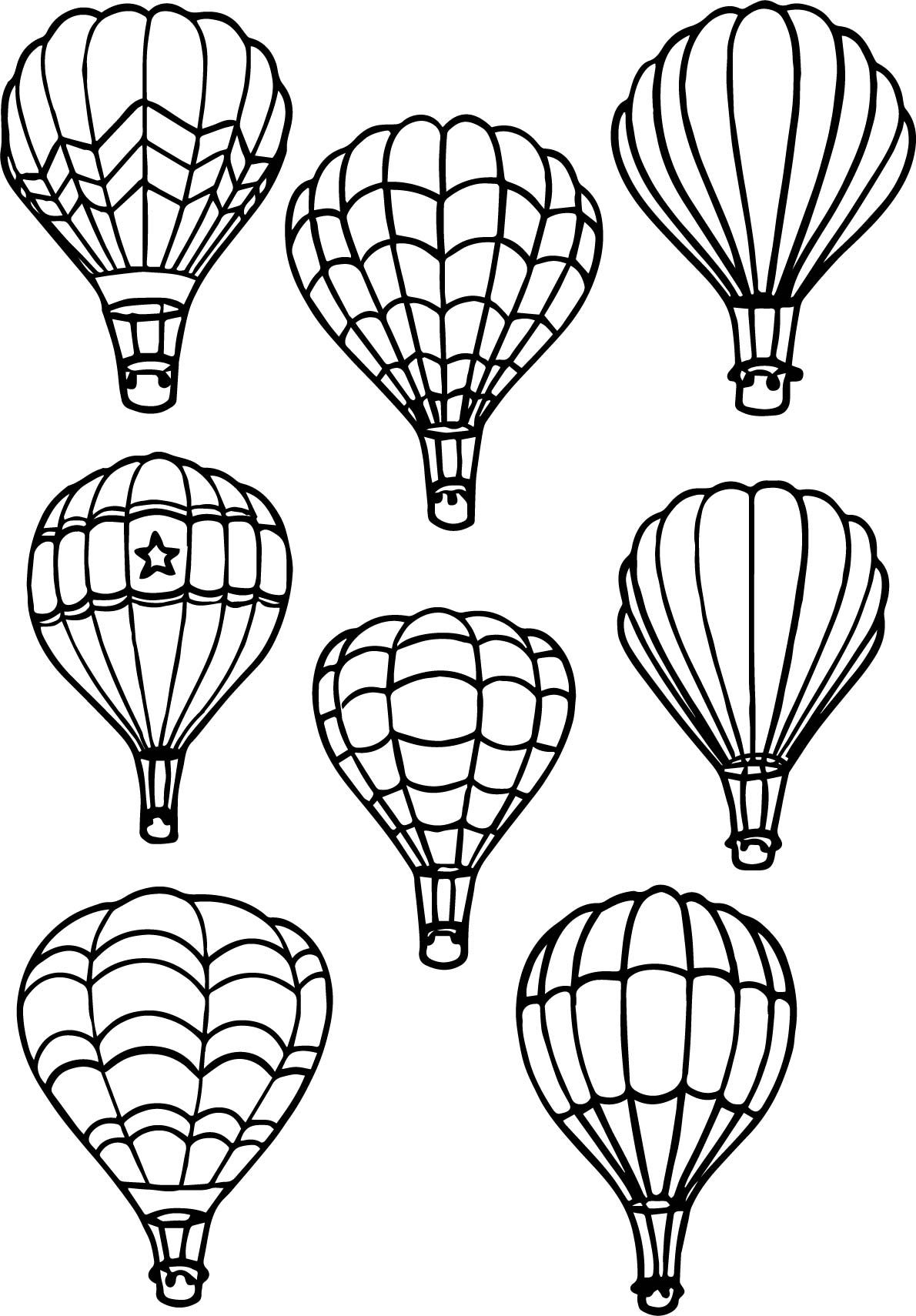 Nice All Air Balloon Coloring Page Air Balloon Tattoo Hot Air Balloons Art Hot Air Balloon Drawing