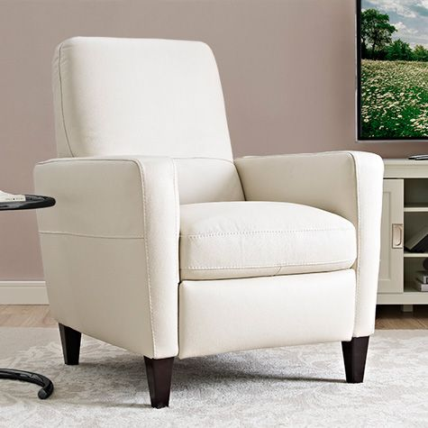 Natuzzi Cream Italian Leather Manual Recliner Chair | Costco UK