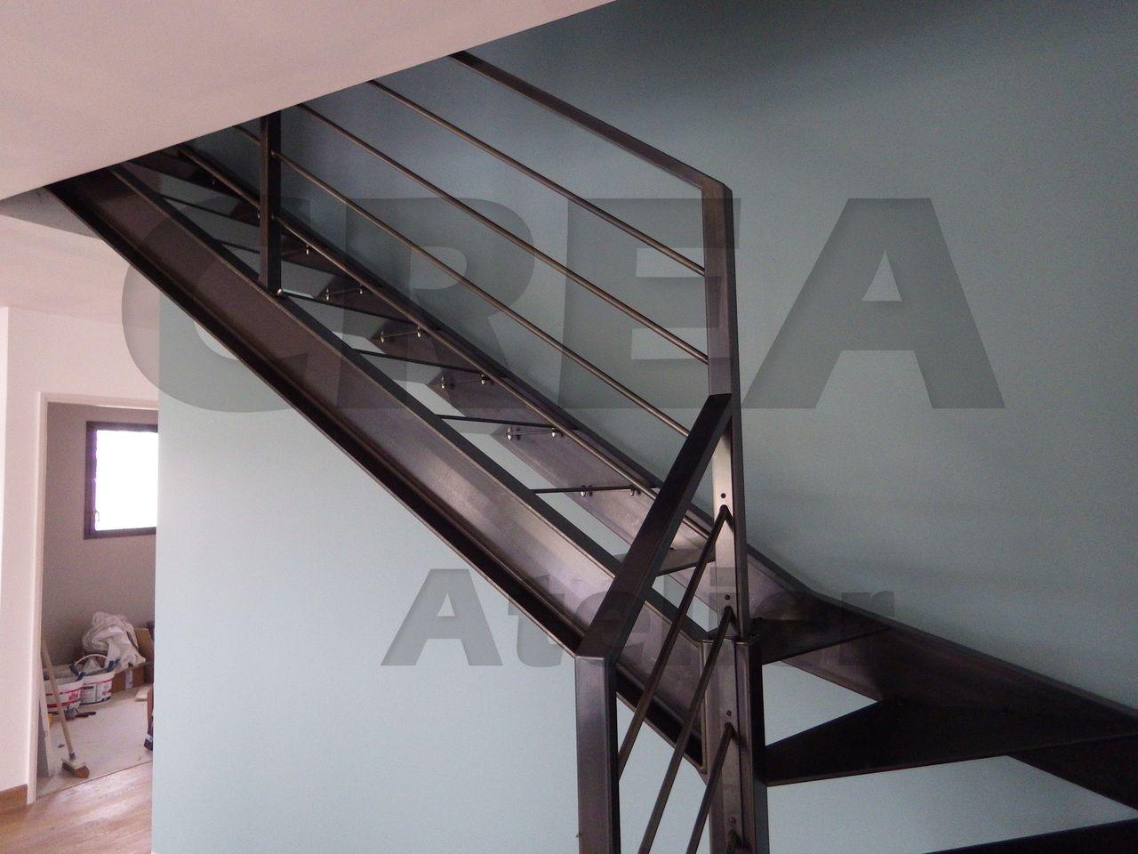 Escalier limons la francaise upn finition noircie for Tarif escalier bois