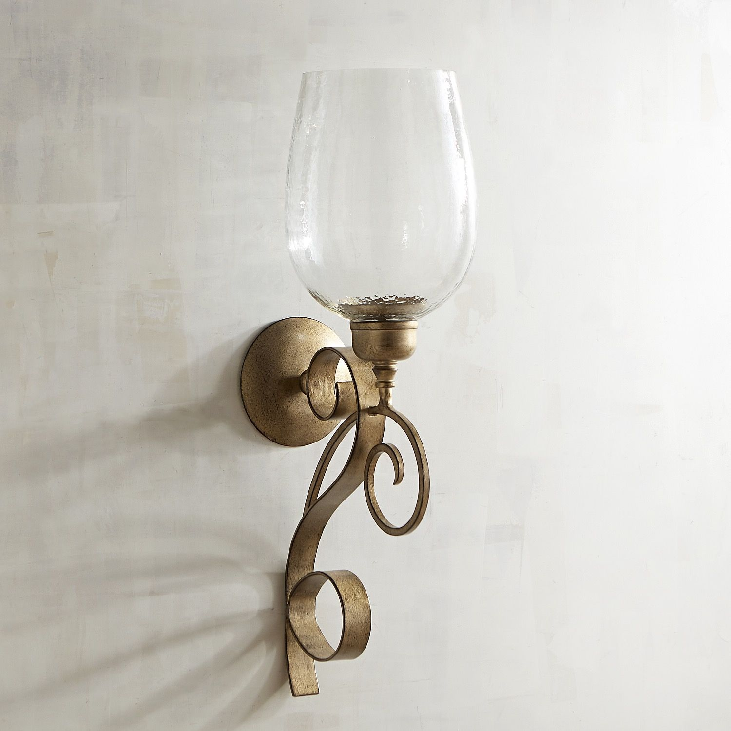 Arianna Large Metal Candle Holder Wall Sconce Champagne