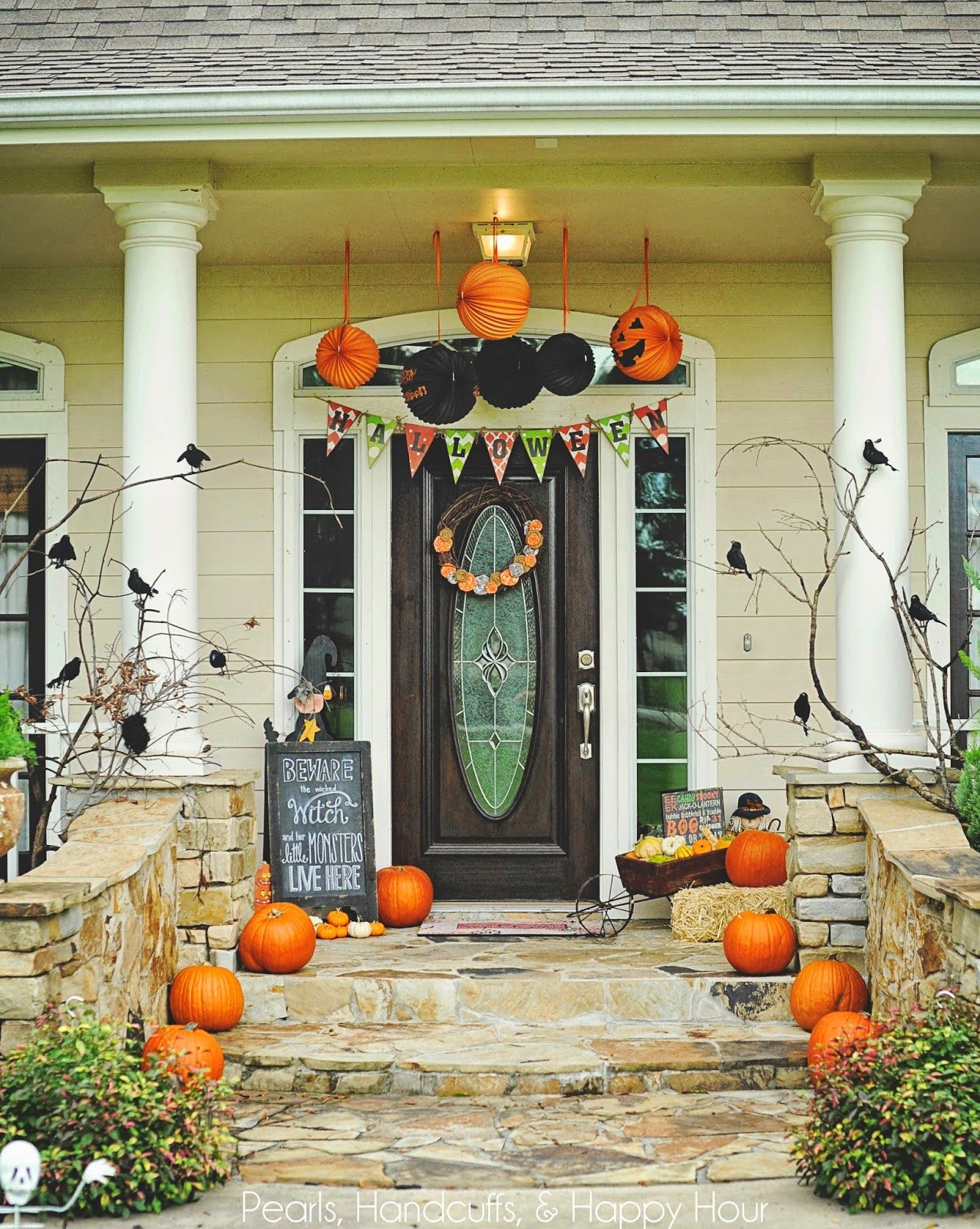 halloween porch decor | boo | pinterest | halloween, halloween porch