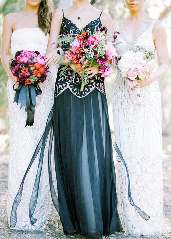 Spotlight: Coloured and Non-white Wedding Dresses | Pinterest ...