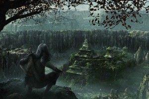 ruins, CGI, fantasy art Wallpapers