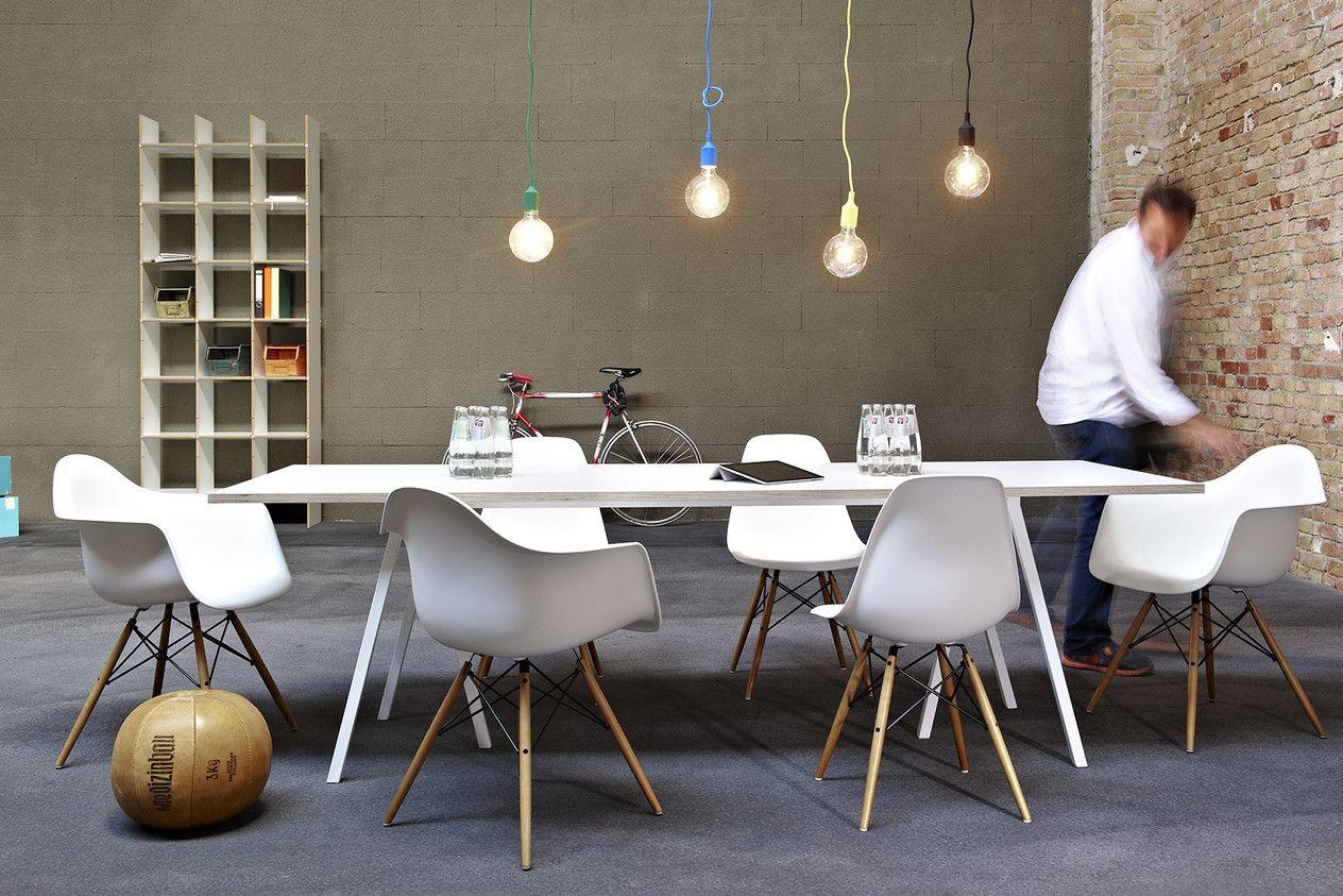 Hay Loop Stand Table Muuto E27 Hanglampen Diner Tisch