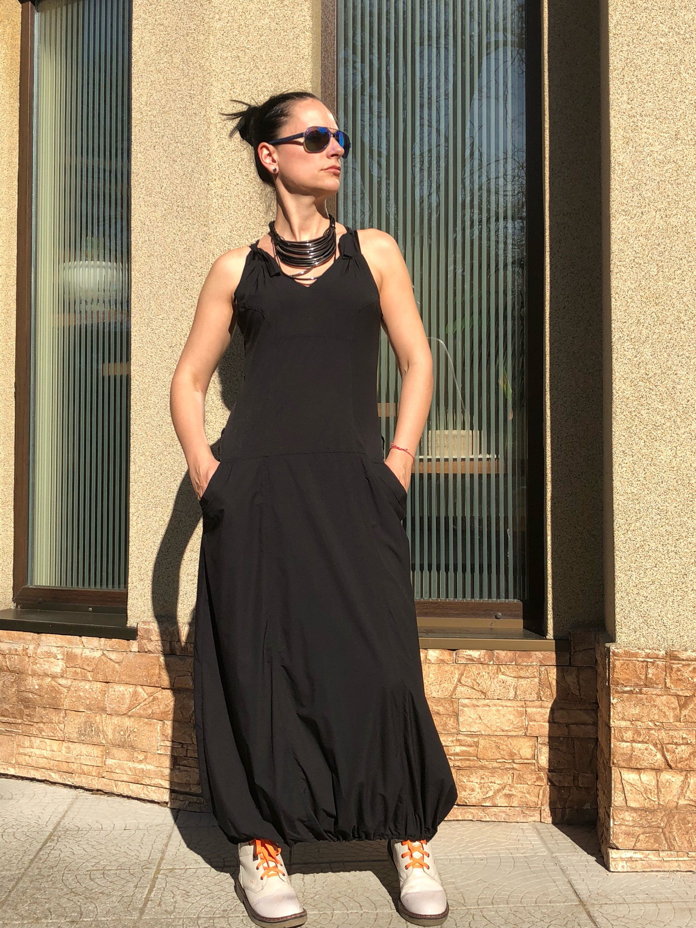 ff3d72bab56 Excited to share the latest addition to my  etsy shop  Black Maxi Dress   Women s Clothing  Clothing for Women  Caftan Maxi Dress  Loose Dress  Plus  Size ...