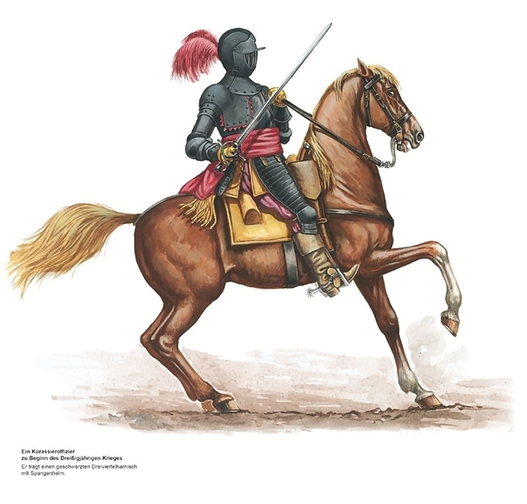 Cuirassier Officer Of The Holy Roman Empire Beginning Of