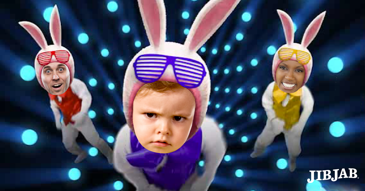 Every bunny dance now cast friends sweat your tail off for cast friends sweat your tail off for easter with this hip hop classic www jib jab put family friends faces in animation easter any holiday movies negle Image collections