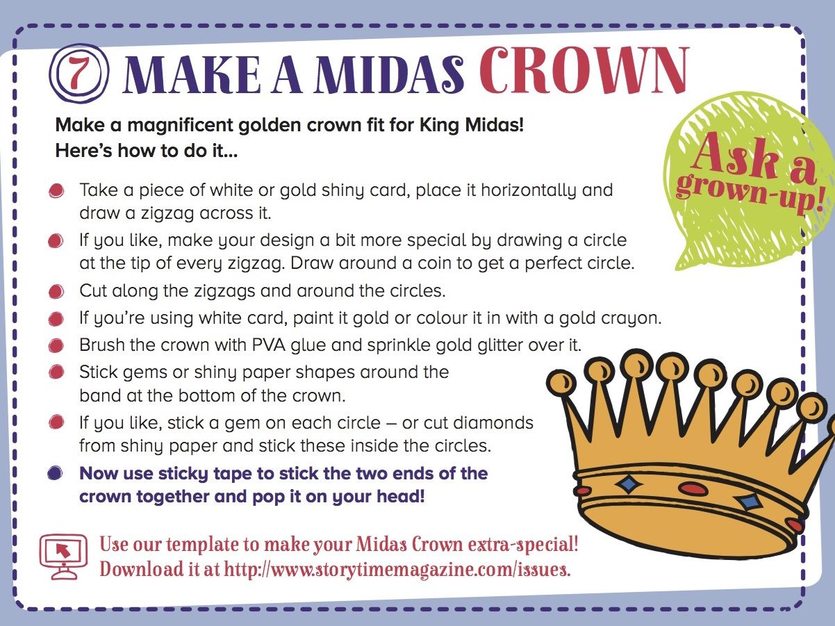 Step By Step King Midas Crown For Our Greek Myth In