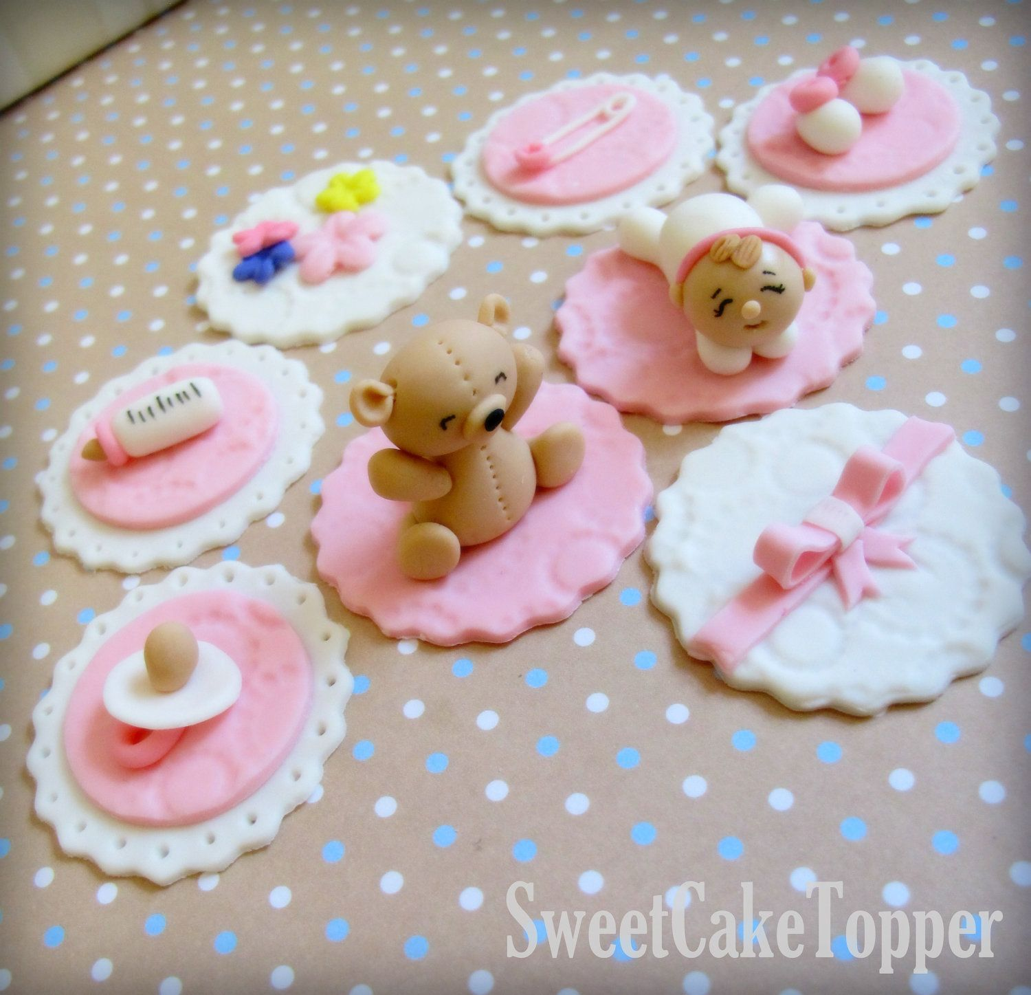 Edible Baby Shower Cupcake Decorations