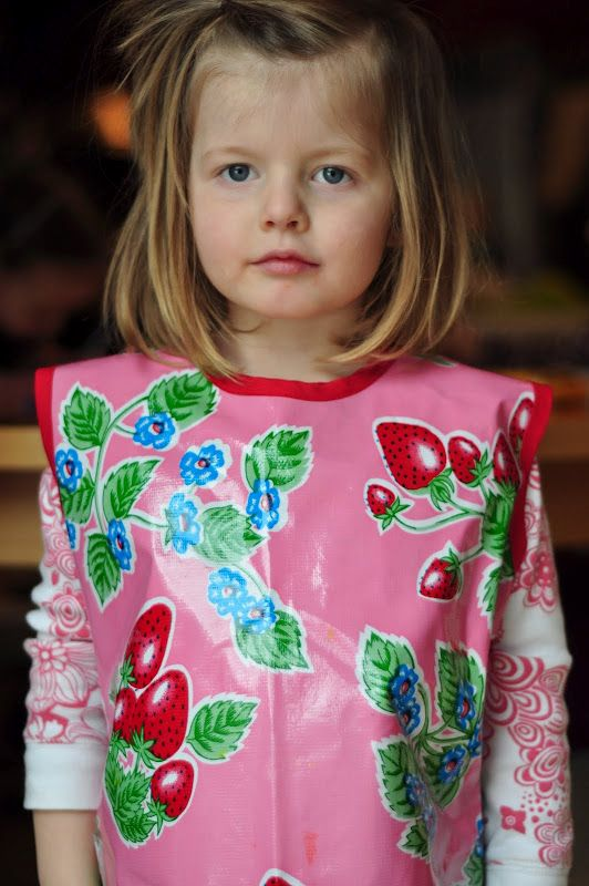 Art Smock pattern using oilcloth. this tutorial has wonderful links ...