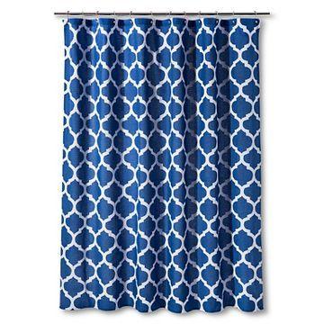 Shower Curtain Dark Blue Space Dye Lattice Threshold Dark Curtains Blue Space Curtains