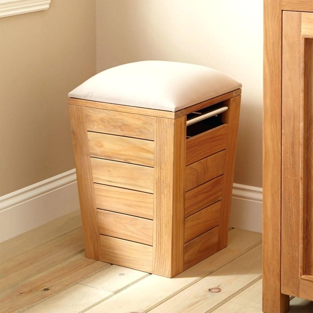 Wooden Laundry Basket With Lid