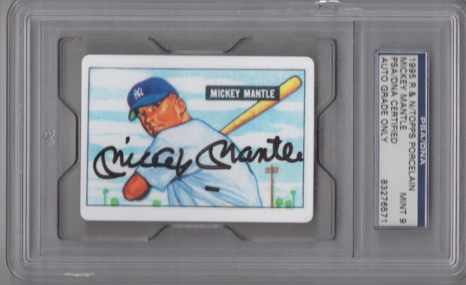 Mickey Mantle Psadna Certified Signed 1951 Bowman Rookie