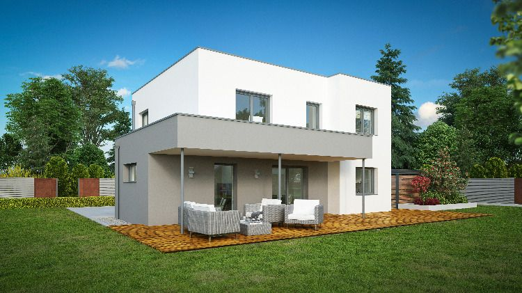 Wimbergerhaus Fides Mit Flachdach Haus Hausbau Ideen Style At Home