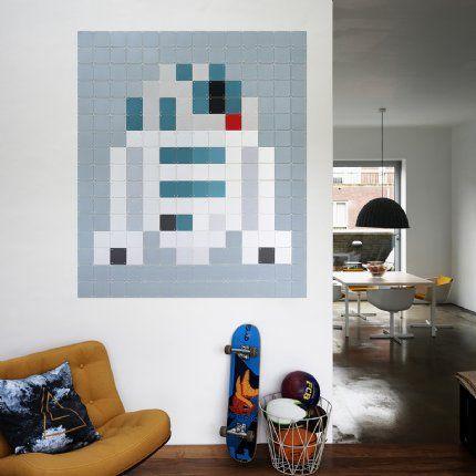 Star Wars R2d2 Pixel Wall Art