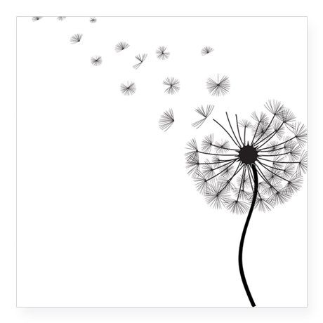 Dandelion Square Sticker 3 X 3 Blowing Dandelion Black Square Sticker By Saltystardesigns Cafepress Dandelion Tattoo Dandelion Tattoo Design Tattoo Templates