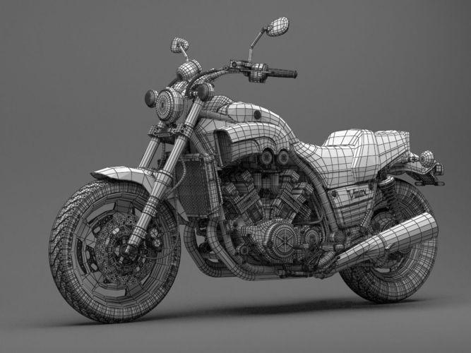 classic motorcycle yamaha v-max 1200 3d model max obj 16   V Max
