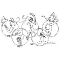 Desenho De Aneis Dos Jogos Olimpicos Para Colorir Jogos