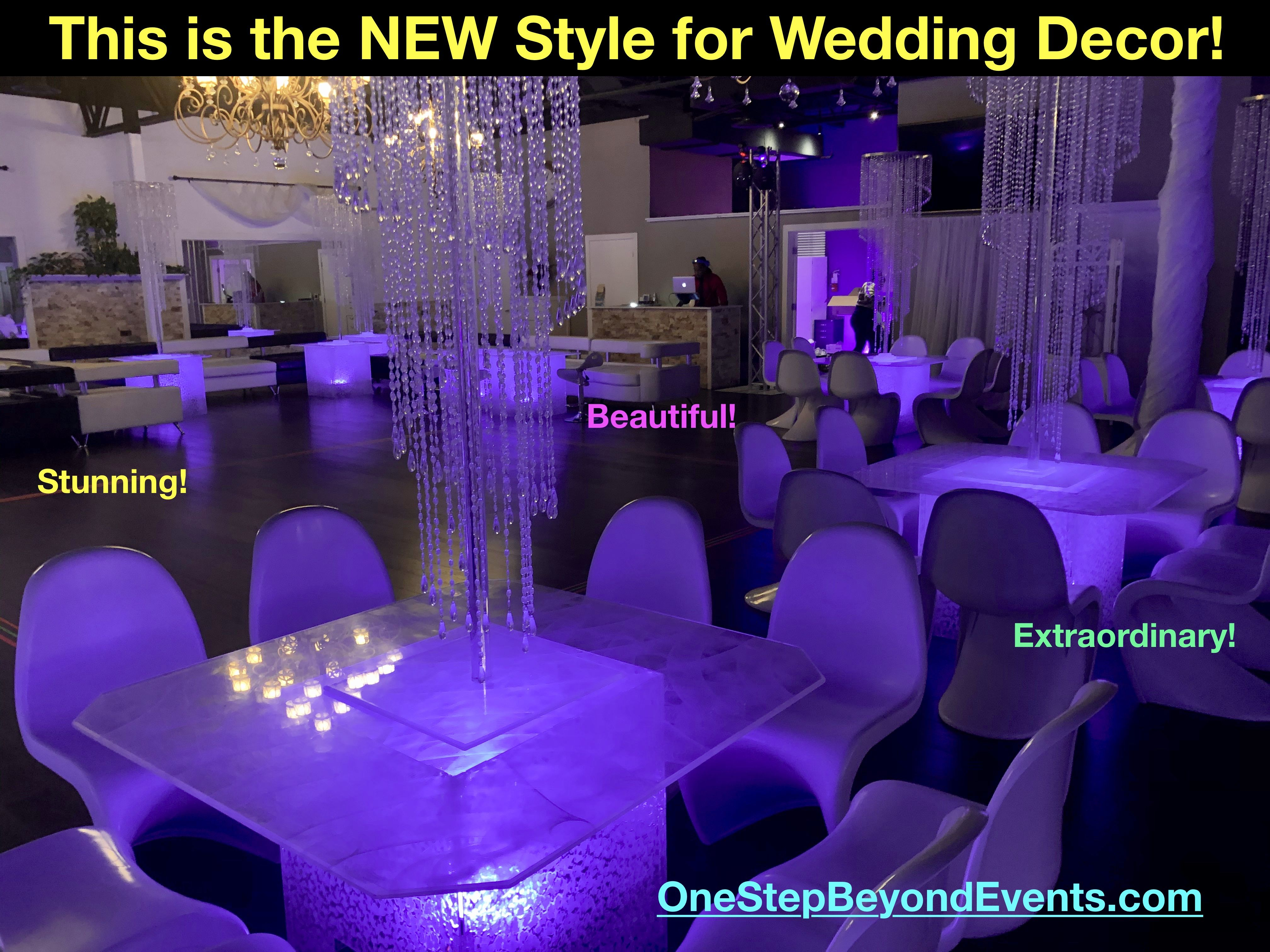 Acrylic Ice Light Up Led Tables These Led Tables Are Exclusive To Our Services We Design Hand Detail Build All Led T In 2020 Glow Table Party Rentals Event Rental