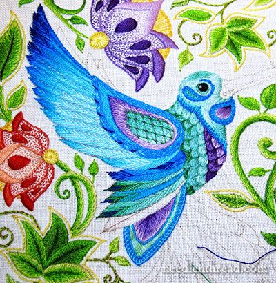 Secret Garden Embroidery Hummingbird Wing Coloring BookSatin