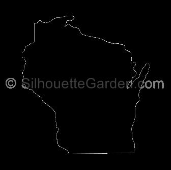 Wisconsin Silhouette Silhouette Silhouette Clip Art Free Cricut Images