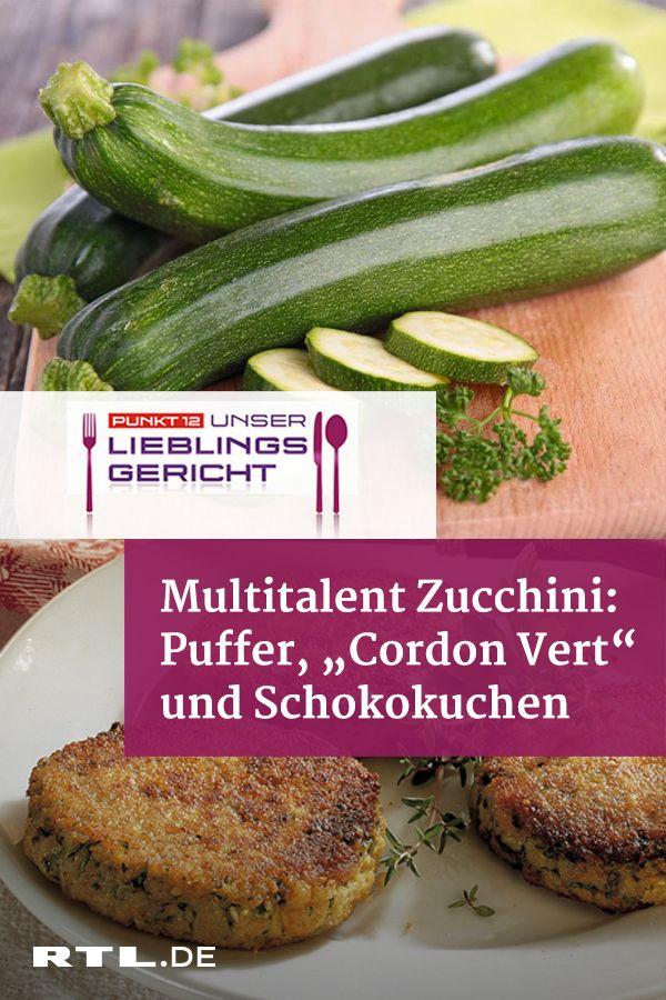 3 leckere Zucchini-Rezepte: Puffer, Cordon Vert und Schokokuchen #menus