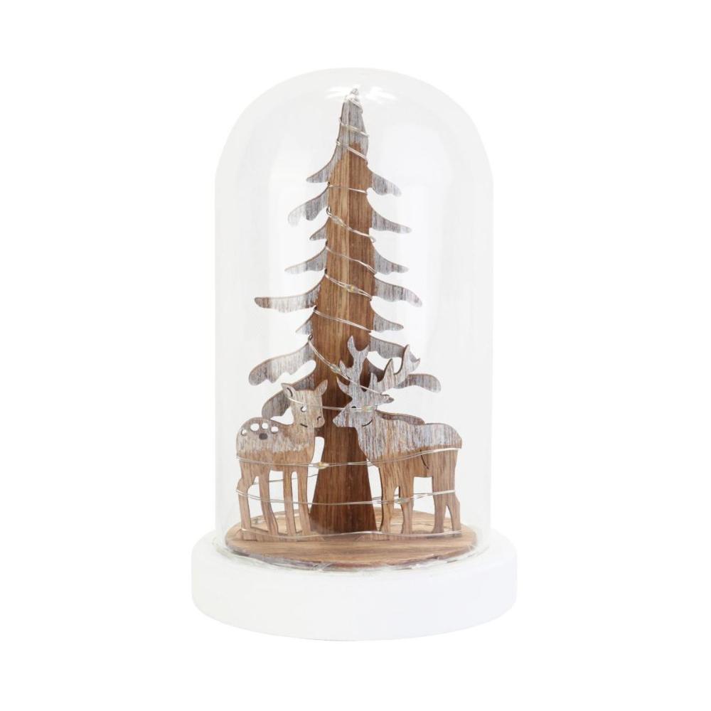 Choinka Z Reniferami W Szkle 19 5 X 12 Cm Z Oswietleniem Led Swieczniki I Dekoracje Swiateczne W Atrakcyjnej Cenie W Sklepach Snow Globes Decor Home Decor