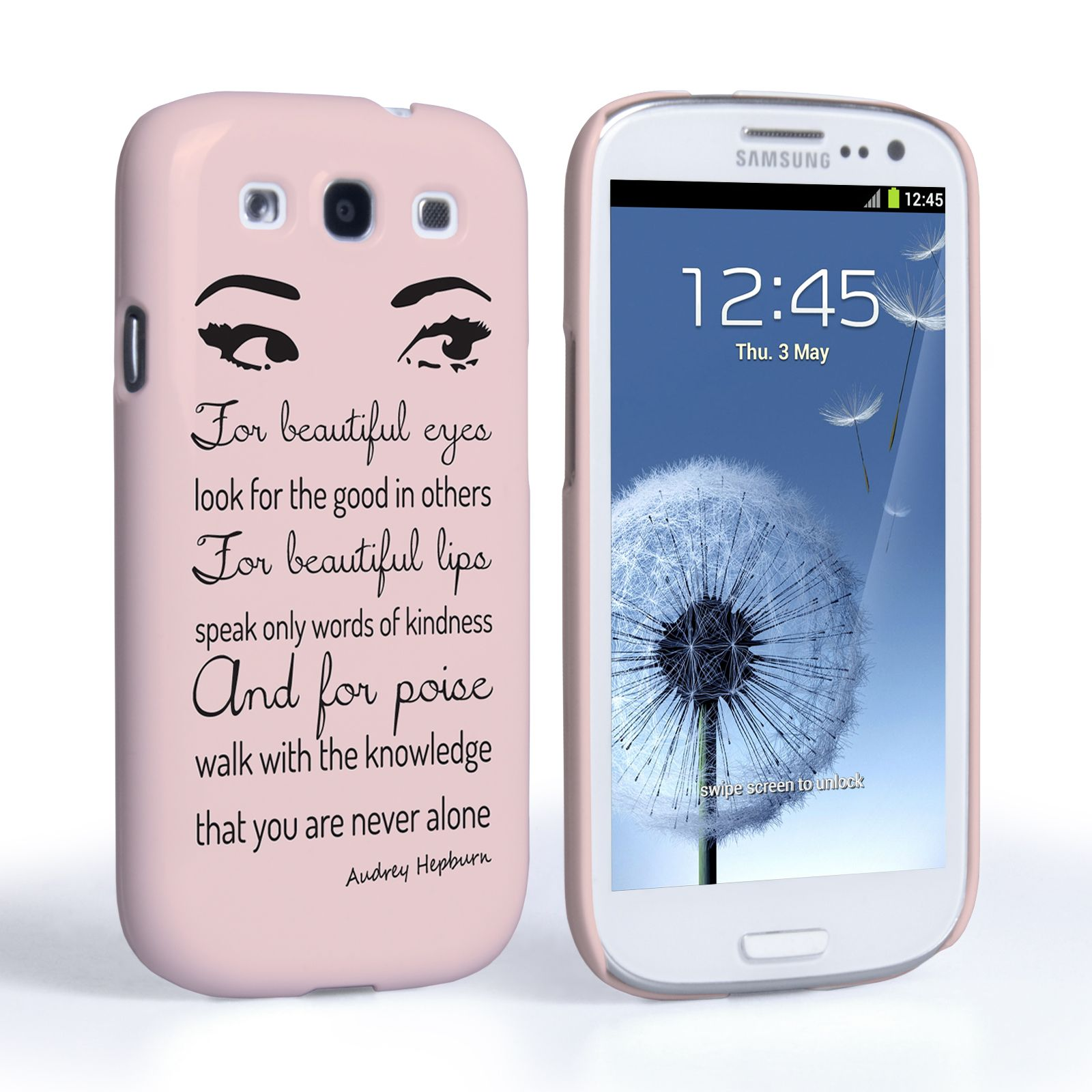 Samsung Quote Awesome Caseflex Samsung Galaxy S3 Audrey Hepburn 'eyes' Quote Case . Design Ideas