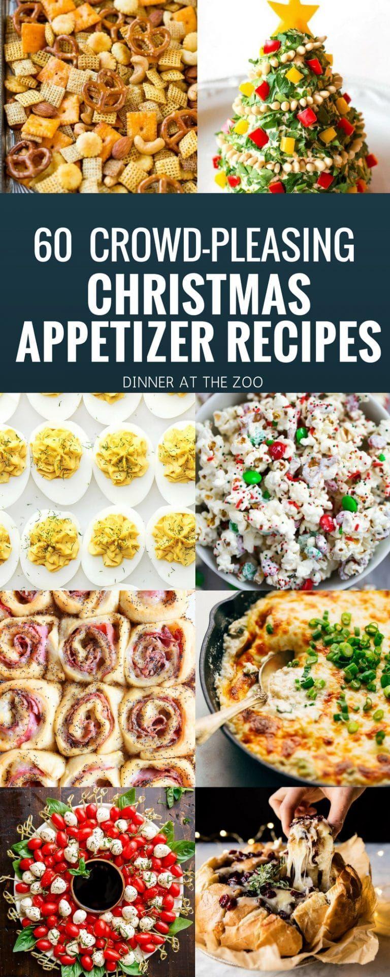 60 Christmas Appetizer Recipes Christmas Recipes Appetizers Appetizer Recipes Hot Appetizers