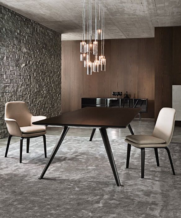 mesa moderna de madera ovalada redonda evans minotti tavolo pinterest mesa. Black Bedroom Furniture Sets. Home Design Ideas