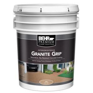 Behr Premium 5 Gal Tan Granite Grip Decorative Flat