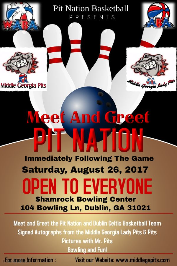Pin By Middle Ga Pits Aba Basketball On Game Events Bowling Center Basketball Teams Autographs