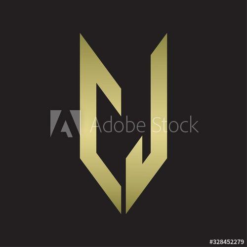 CJ Logo monogram with emblem style isolated with gold colors , #AFFILIATE, #monogram, #emblem, #CJ, #Logo, #gold #Ad